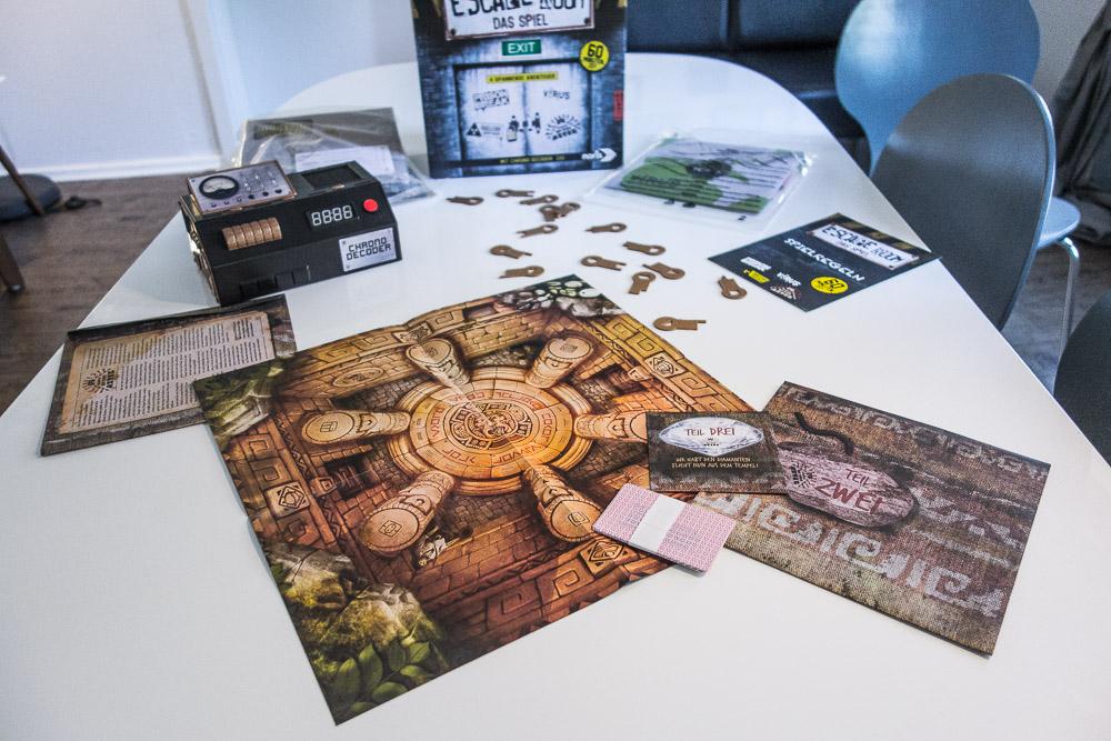 Noris Verlag Unpacking Escape Room Das Spiel Azteken
